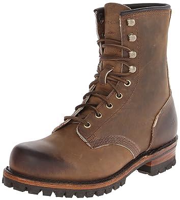 FRYE Men's Logger Combat Boot,Tan,7.5 ...