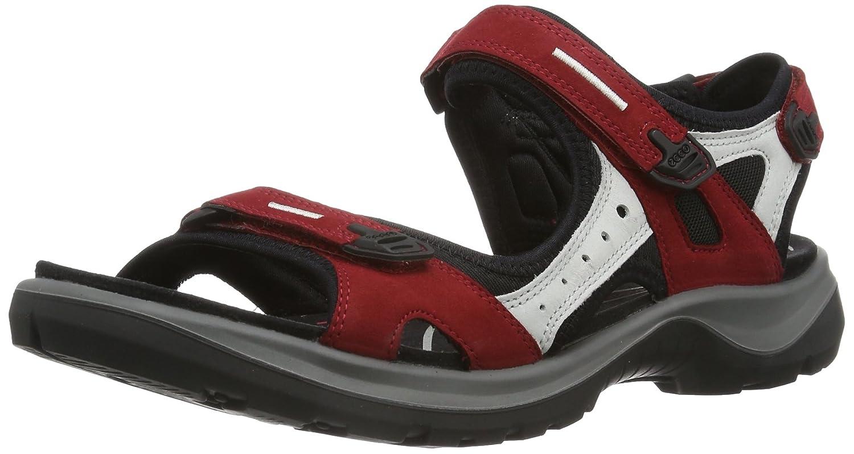 ECCO Women's Yucatan Sandal B003Y3LY82 36 EU (US Women's 5-5.5 M)|Chili Red/Concrete/Black
