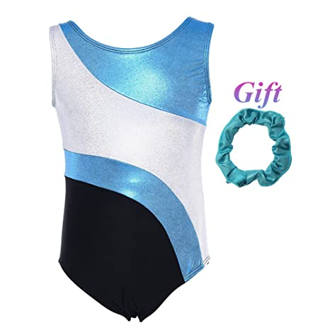 0727cf06568a Hougood Gymnastic Leotards for Girls Sleeveless Ballet Leotard Dance ...