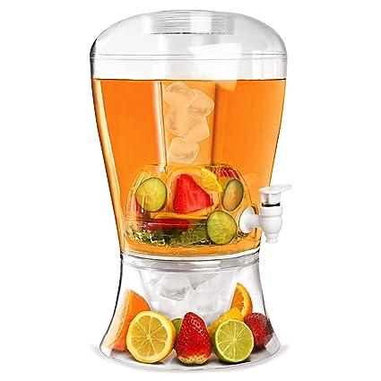 Dispensador de bebidas (plástico, 8 l, con infusor de frutas, base para