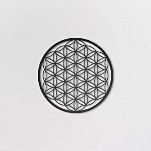 Northshire Metal Wall Decor, Flower of Life, Metal Wall art Small, Black Wall Decor Bathroom Decor, Bedroom Decor and Kitchen Wall Decor, Wall Decorations for Living Room