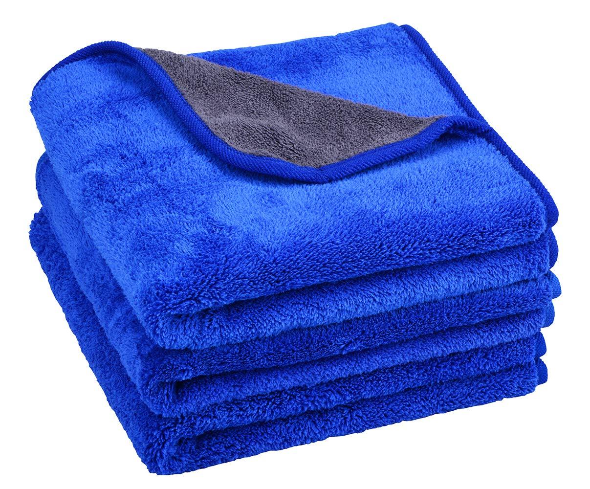 Mayouth in microfibra auto pulizia asciugamani super assorbente auto essiccazione asciugamani peluche spessore lucidatura ceretta auto lucidatura ultra morbido auto dettagli lavaggio asciugamano 600 gsm