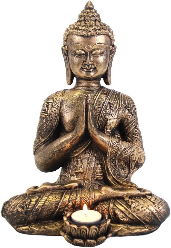 Figurine Bouddha Thailandais Noir /& Argent/é Puckator/ Illumination