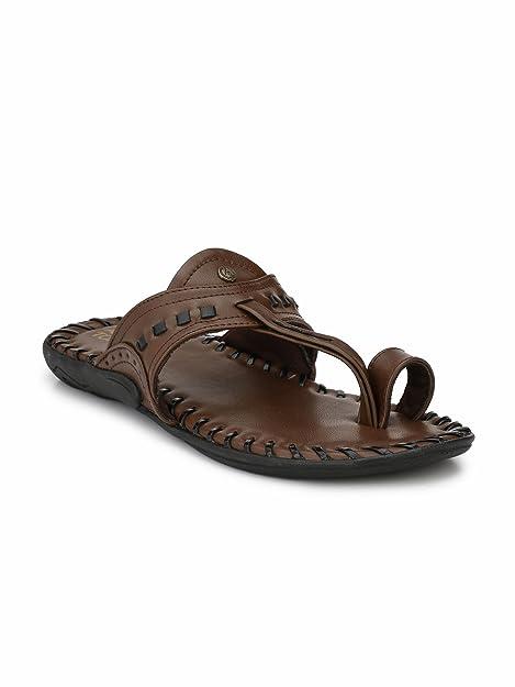 73d5faee7ff Alberto Torresi Men s Dark Brown+Black Hawaii Thong Sandals-10 UK India (