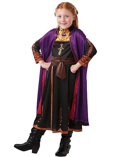 Disney Disfraz Vestido con Trenza para Niñas El Reino del Hielo Anna Multicolor 3-4 Años
