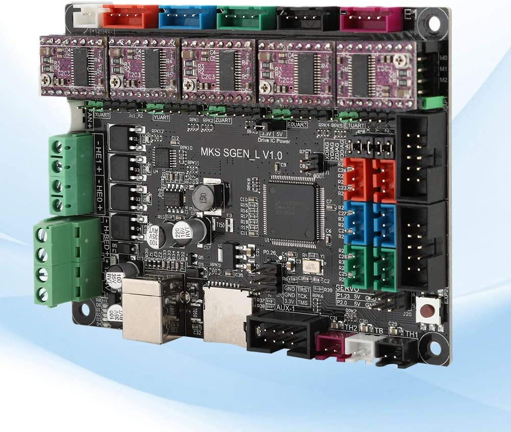 Taidda- Placa Base MKS Duradera, práctica Unidad DRV8825 práctica de 12 V ~ 24 V, impresión 3D para MKS SGen-L + DRV8825