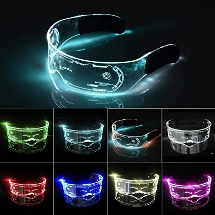 Gafas LED Luminosas Light Up Visor Anteojos para Fiestas de Navidad miraculocy Halloween Gafas LED de Colores Gafas Luminosas Cyberpunk LED Neon Carnival Party Glasses