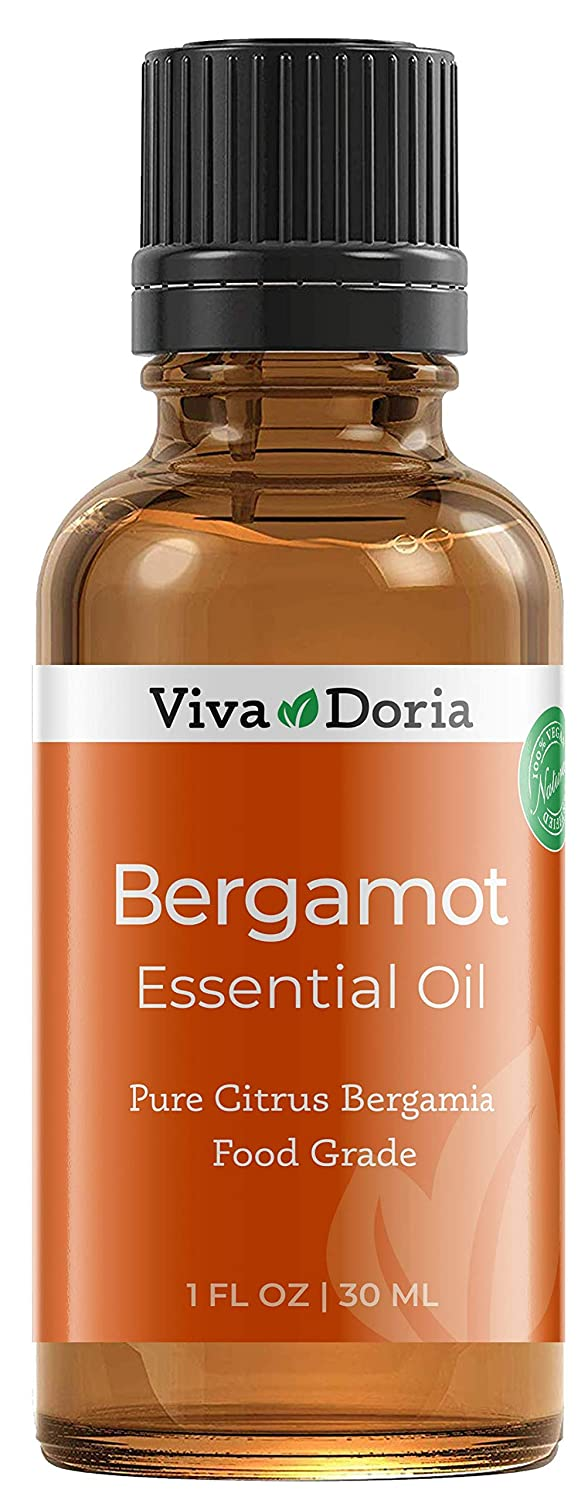 Viva Doria 100% Pure Bergamot Essential Oil, Undiluted, Food Grade, Italian Bergamot oil, 30 mL (1 fl oz)