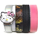 Hello Kitty By Sanrio Analog Watch 4 Strap Bracelet Silver Watch/ Bacelet