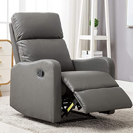 Amazon.com: ANJ Chair Contemporary Leather Recliner Chair ...