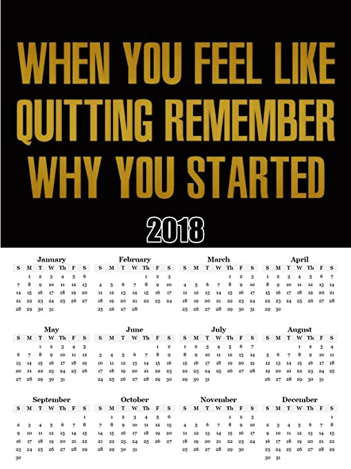 Amazon.com: 2018 Calendario Cartel Workout Motivación Póster ...