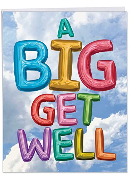 j5651hgwg nuevo Jumbo Get Well tarjeta de felicitación ...