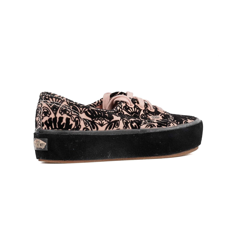 cf9e44f31fb6 Vans Women s Authentic Sidewall Wrap Platform Lace up Trainer Rose Cloud   Amazon.co.uk  Shoes   Bags