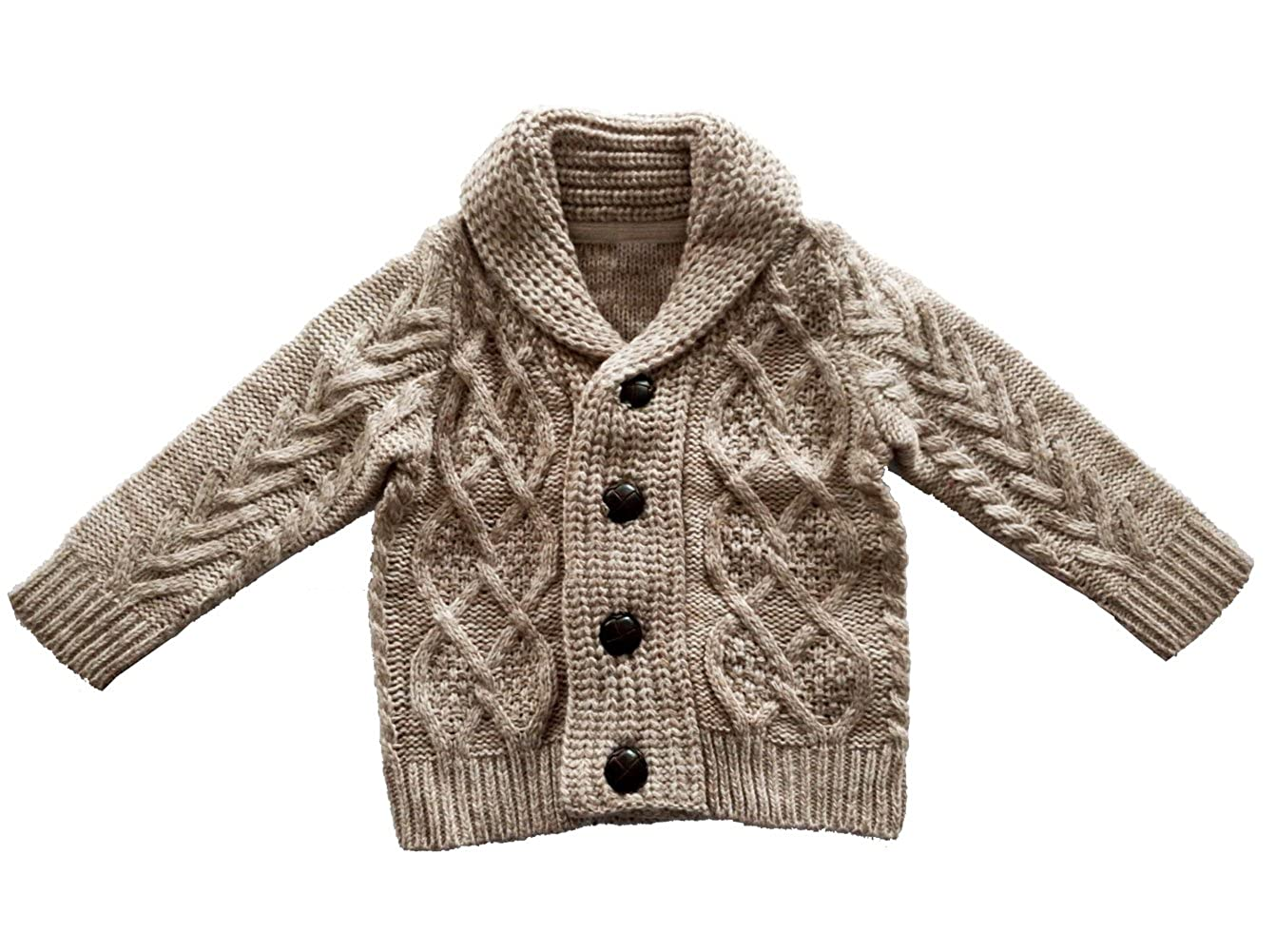 eKooBee Infant Baby Boys Sweater Cardigans Outerwear Beige