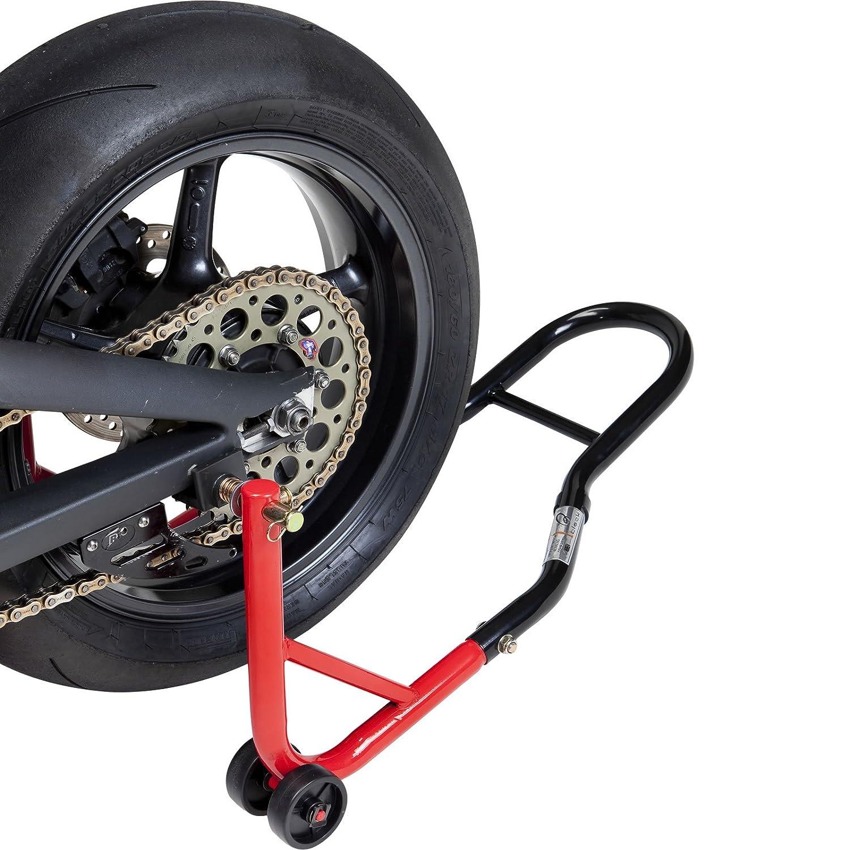 Black 5073 Pro Range B5073 Support B/équille de Moto Arri/ère avec des adaptateurs de Coupe du berceau en caoutchouc