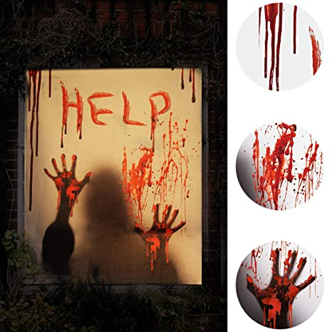 ALUCKY Halloween Window Cover, Halloween Window Clings Zombie Hands on zombie clothes ideas, halloween coffin ideas, good zombie ideas, halloween lights ideas, halloween decor ideas, zombie hair ideas, halloween horror ideas, zombie dress ideas, halloween treats ideas, halloween hurricane ideas, scary halloween decorations ideas, halloween vampire ideas, halloween magic ideas, zombie makeup ideas, halloween games ideas, halloween candy ideas, halloween frankenstein ideas, halloween skeleton ideas, zombie tattoo ideas, halloween door decorations ideas,