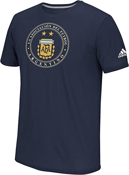 Argentina Graphic T Shirt Tee Top Short Sleeve Grey Mens Football Sport adidas