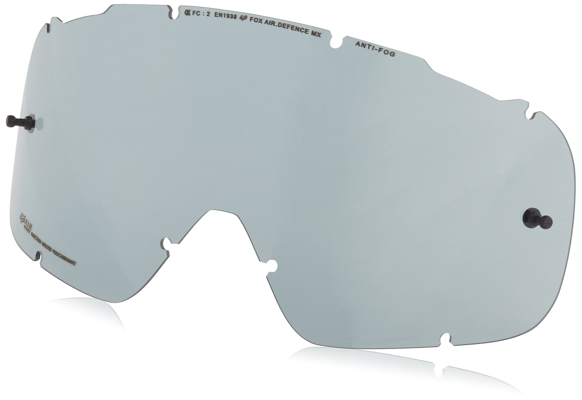 Fox Racing Air Defence Replacement Goggle Lens-Grey