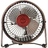 Desk Fan, BXT 6 inch Antique Bronze Silent Office USB Fan Rotating Portable Mini Fan Personal Cooler Cooling Table Fan for PC | Laptop | Ultrabook| Chromebook | Apple Macbook | iMac