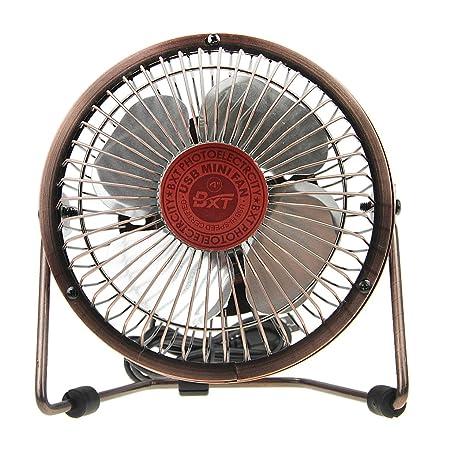 BXT® Mini Ventilador de suelo USB refrigeración Ventilo portátil ventilador mesa silencioso eléctrico ventilador ventilador