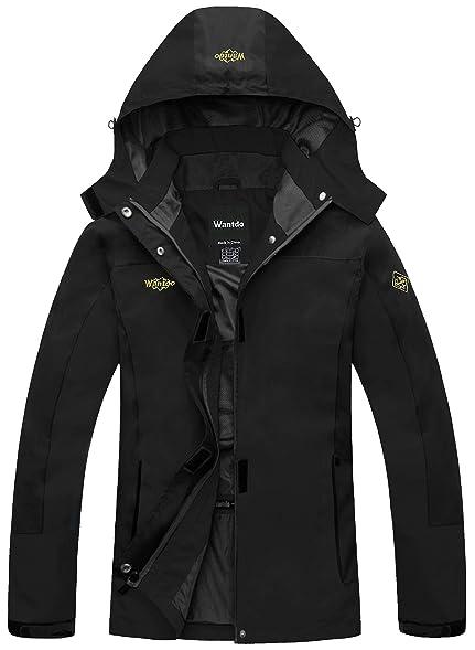 Amazon.com: Wantdo Women's Hooded Windproof Rain Jacket Outerwear ...