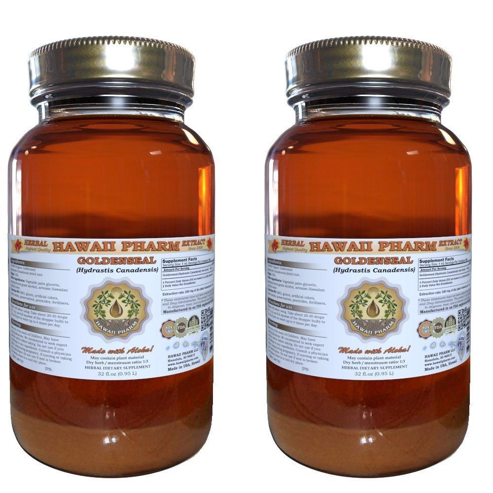 Goldenseal Liquid Extract, Organic Goldenseal (Hydrastis Canadensis) Tincture 2x32 oz