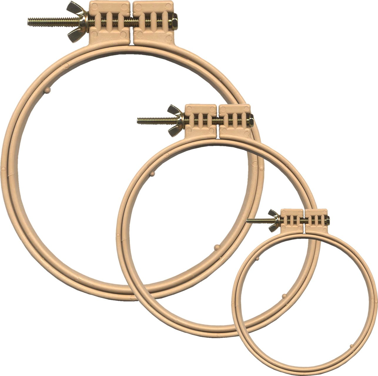 Morgan Quality Products No-Slip Embroidery Hoops Bundle Interlocking Tongue and Groove Design 9 and 5