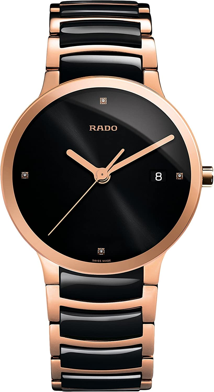RadoメンズCentrix – r30554712 One Size Two-Tone Black/Rose Gold B00WVGNUHQTwo-Tone Black/Rose Gold