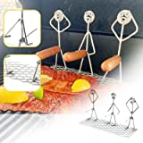 Steel Hot Dog,Marshmallow Barbecue Skewers,Barbecue Skewer Fun Humanoid Forks Hot Dog Grill Holder Hotdog Cooker Outdoor Camp