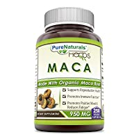 Pure Naturals Maca 950 Mg - Made with Organic Maca Root 250 Capsules Supports Reproductive Health*