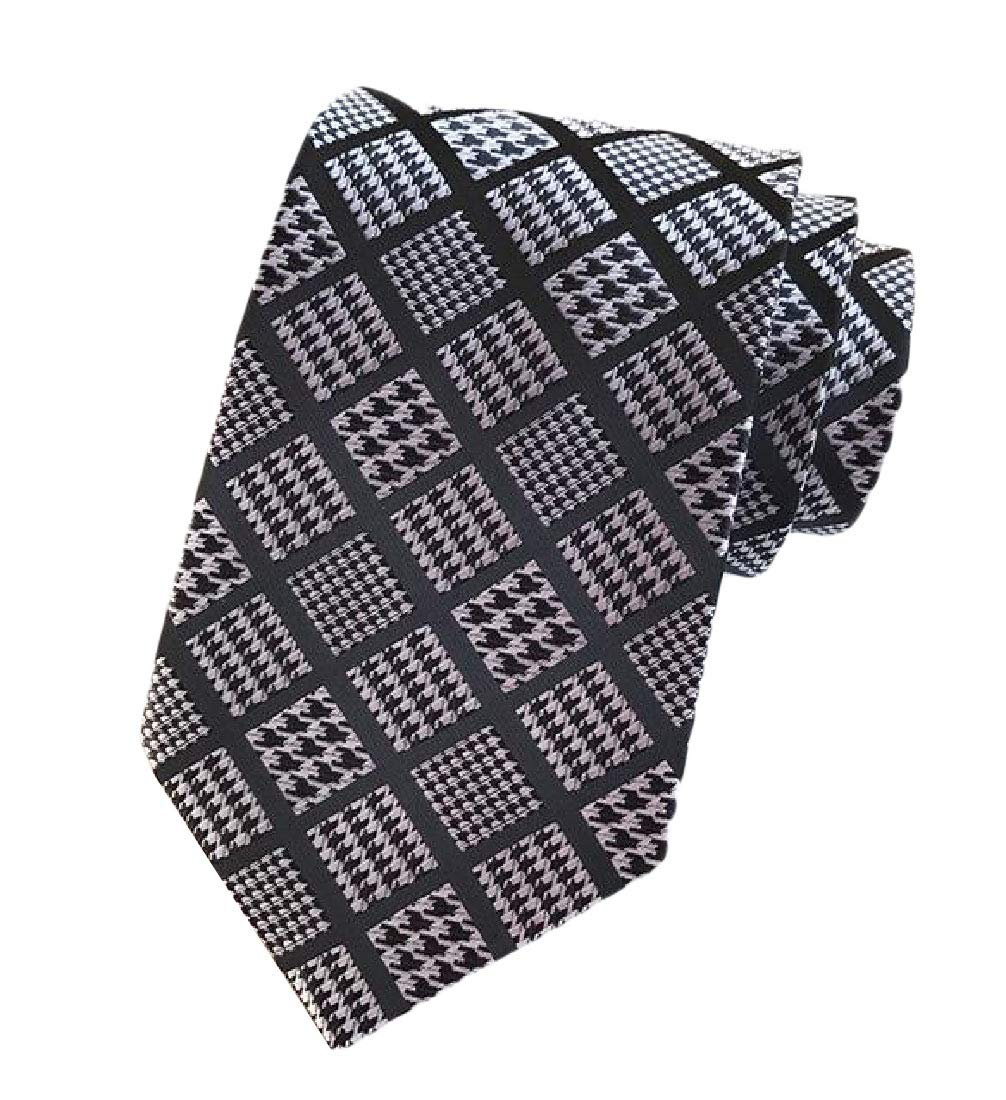 Abetteric Men's Business Classic Plaid More Choice Floral Printed Modern Necktie Pattern17 OS