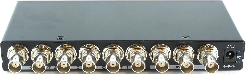1x2 1:2 2-Way Component BNC Video Splitter Distribution Amplifier SB-3776BNC