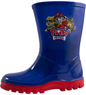 a62a697d88 New Boys Blue Paw Patrol Chracter Wellington Boots - Navy/Red - UK ...