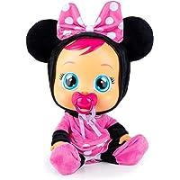 BEBÉS LLORONES Minnie Muñeca interactiva que llora de verdad con chupete y pijama de Minnie, muñeco para niñas y niños…