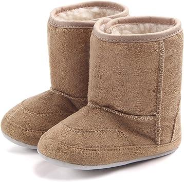 Butterme Hiver chaud Bottes b/éb/é doux Semelle antid/érapante Mi-mollet nourrisson Prewalker enfant en bas /âge Bottes de neige