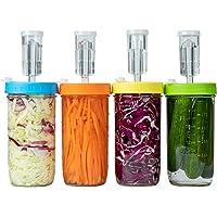 Plastic Fermentation Kit - for Making Sauerkraut in Wide Mouth Mason Jars