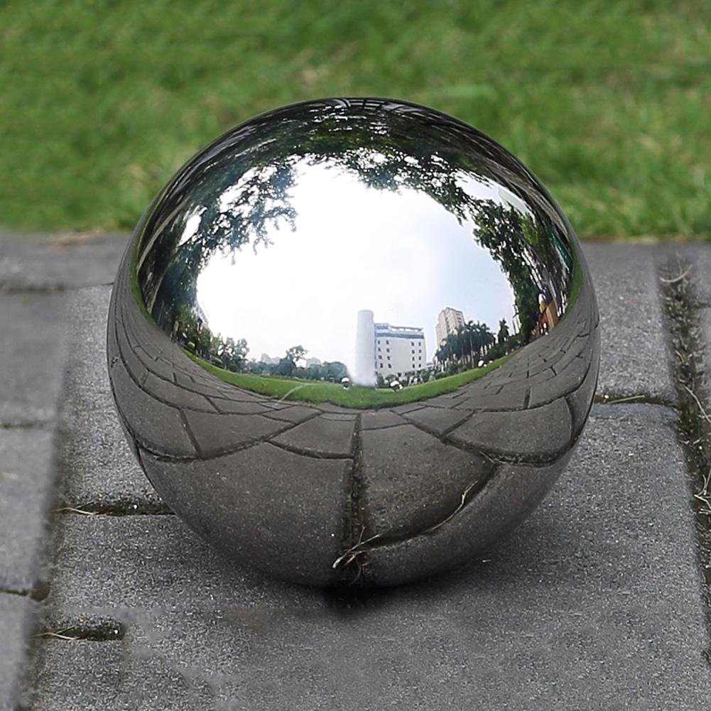 1pc Stainless Steel Hollow Ball Seamless Mirror Ball Sphere Gazing Ball for Home Garden Ornaments Decor Lembeauty