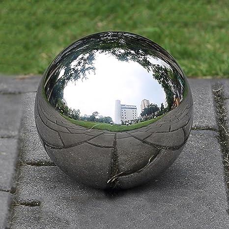 1 bola de acero inoxidable hueca sin costuras con espejo ...