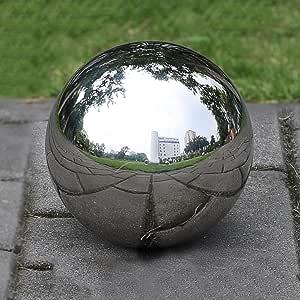 1 bola de acero inoxidable hueca sin costuras con espejo, bola para cenar para decoración del hogar o jardín.: Amazon.es: Bricolaje y herramientas