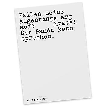 Mr Mrs Panda Postkarte Mit Spruch Fallen Meine Augenringe Arg