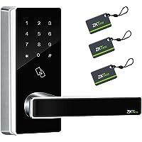 ZKTeco Keyless Keypad Door Locks with Bluetooth Digital Door Lock Smart Home Entry+5 pcs RFID Cards (Zinc Alloy)