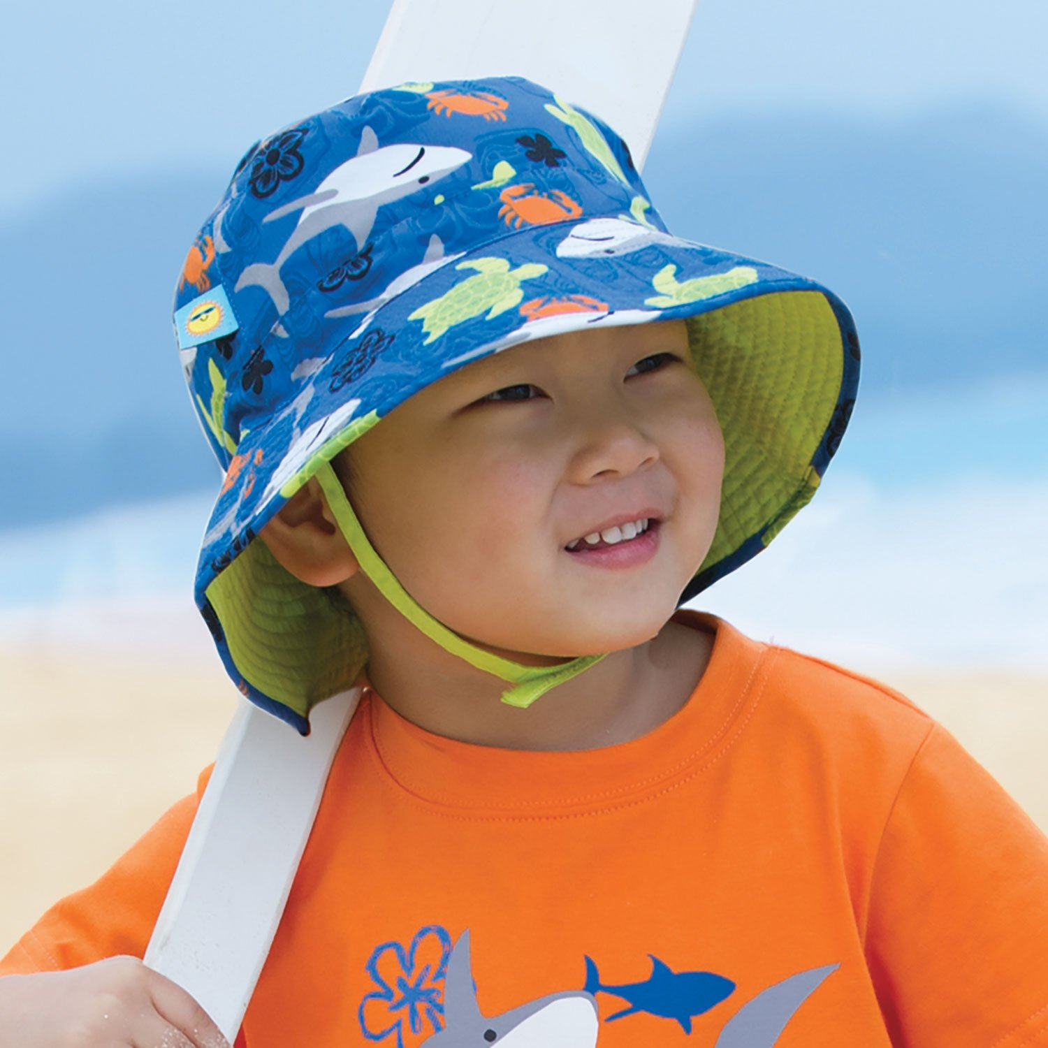 5238e5d5ab143 Amazon.com  Lime Green Baby Boy Sun Hat