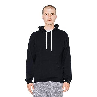 American Apparel Men's Flex Fleece Long Sleeve Pullover Hoodie: Clothing