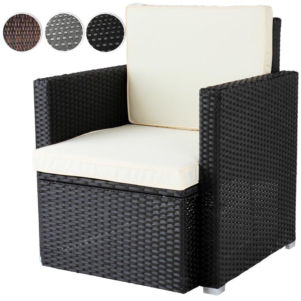 Miadomodo Bequemer Loungesessel aus Polyrattan Gartenmöbel inkl ...