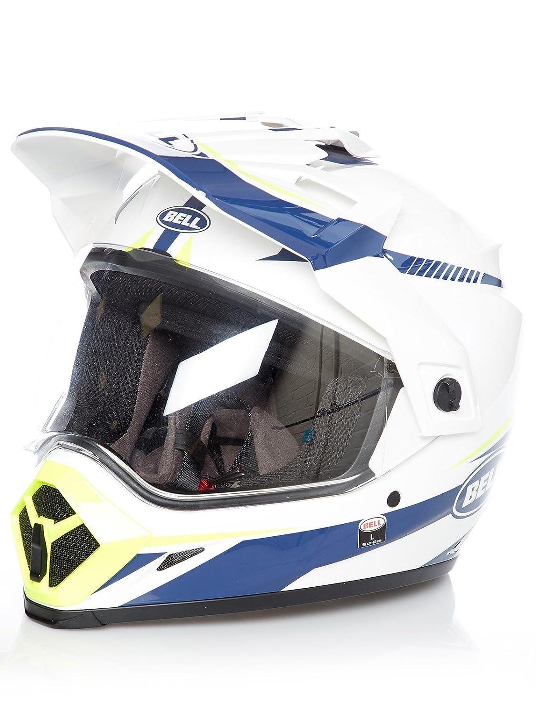 peque/ña amarillo azul BELL Helmets MX-9 Adventure MIPS linterna blanca