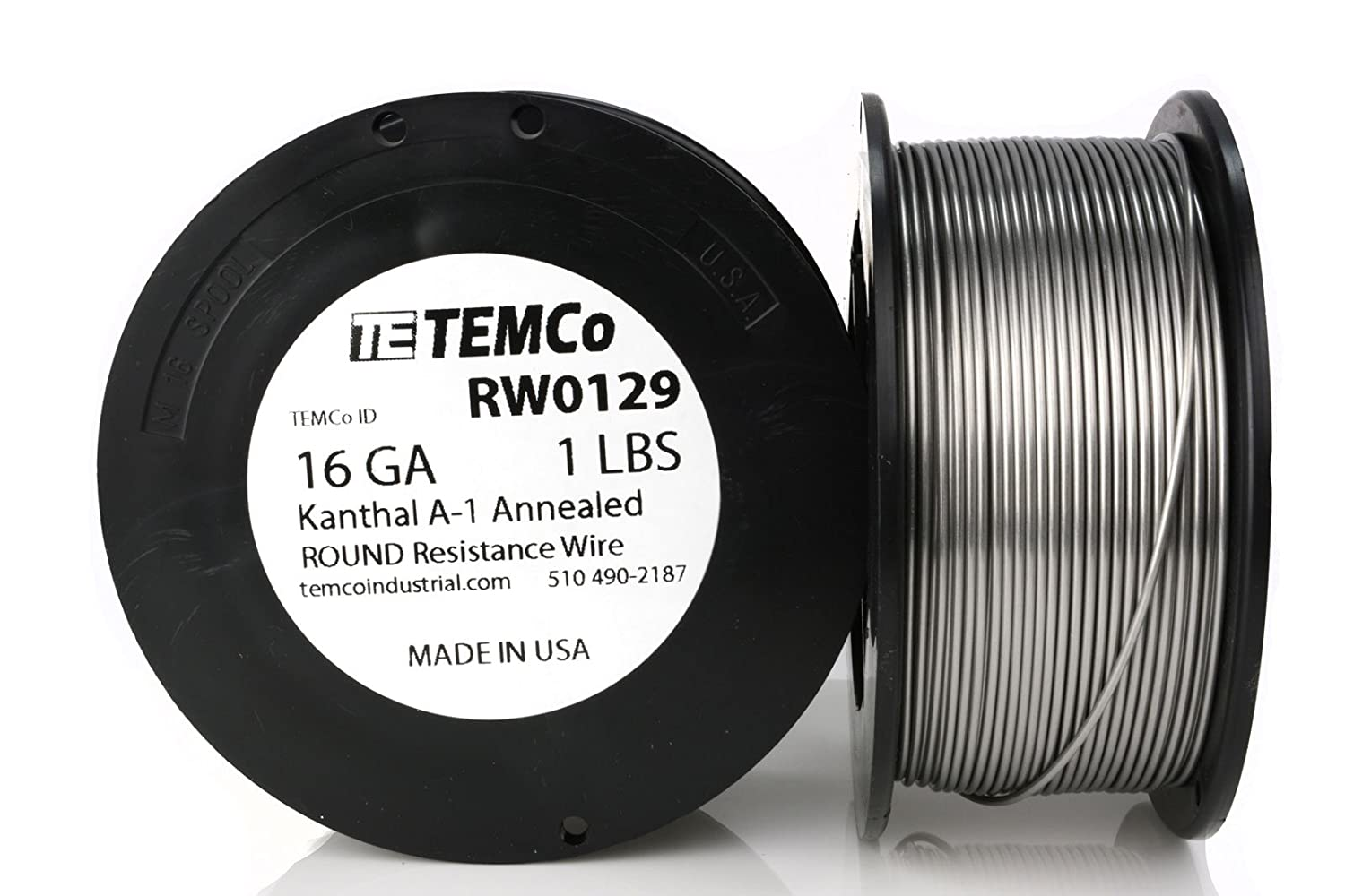 Temco Kanthal A1 Wire 16 Gauge 25 Ft Resistance Awg A 1 Ga Heat Resistant Wiring Tape