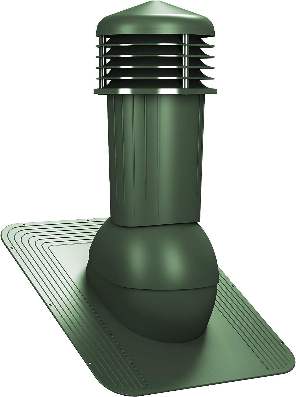 Entl/üfterkamin DN125 mm STANDARD f/ür Bitumenschindel Dachl/üfter L/üftungsziegel RAL 8017 - Braun