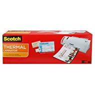 """Scotch Thermal Laminator Combo Pack, Includes 20 Letter-Size Laminating Pouches, Holds Sheets up to 8.5"""" x 11(TL902VP)"""