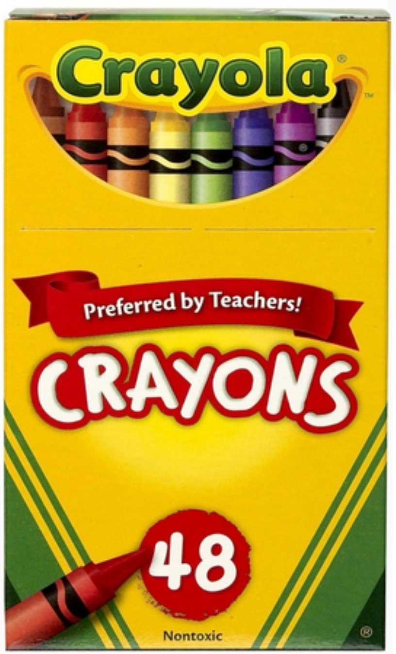 Crayola CRAY48 UPC 52-0048 Crayons Assorted Colors 48 Count, Pack of 3