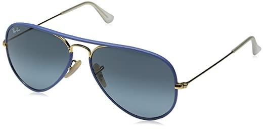 Ray-Ban 3025JM 001/4M Blue 3025JM Aviator Sunglasses Lens Category 2 Size 55